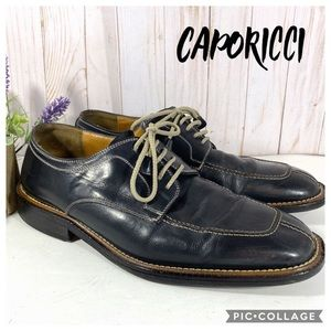 Caporicci Blue Lace Up Loafers Square Toe 10.5